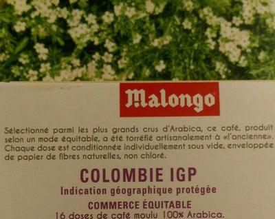 Colombie IGP - Ingredients
