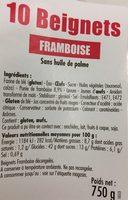 10 Beignets Framboise sans huile de palme - Produit - fr