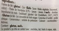 10 Beignets Framboise sans huile de palme - Ingrédients - fr