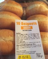10 beignets abricot - Product