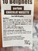 Beignet au Chocolat - Ingrédients - fr