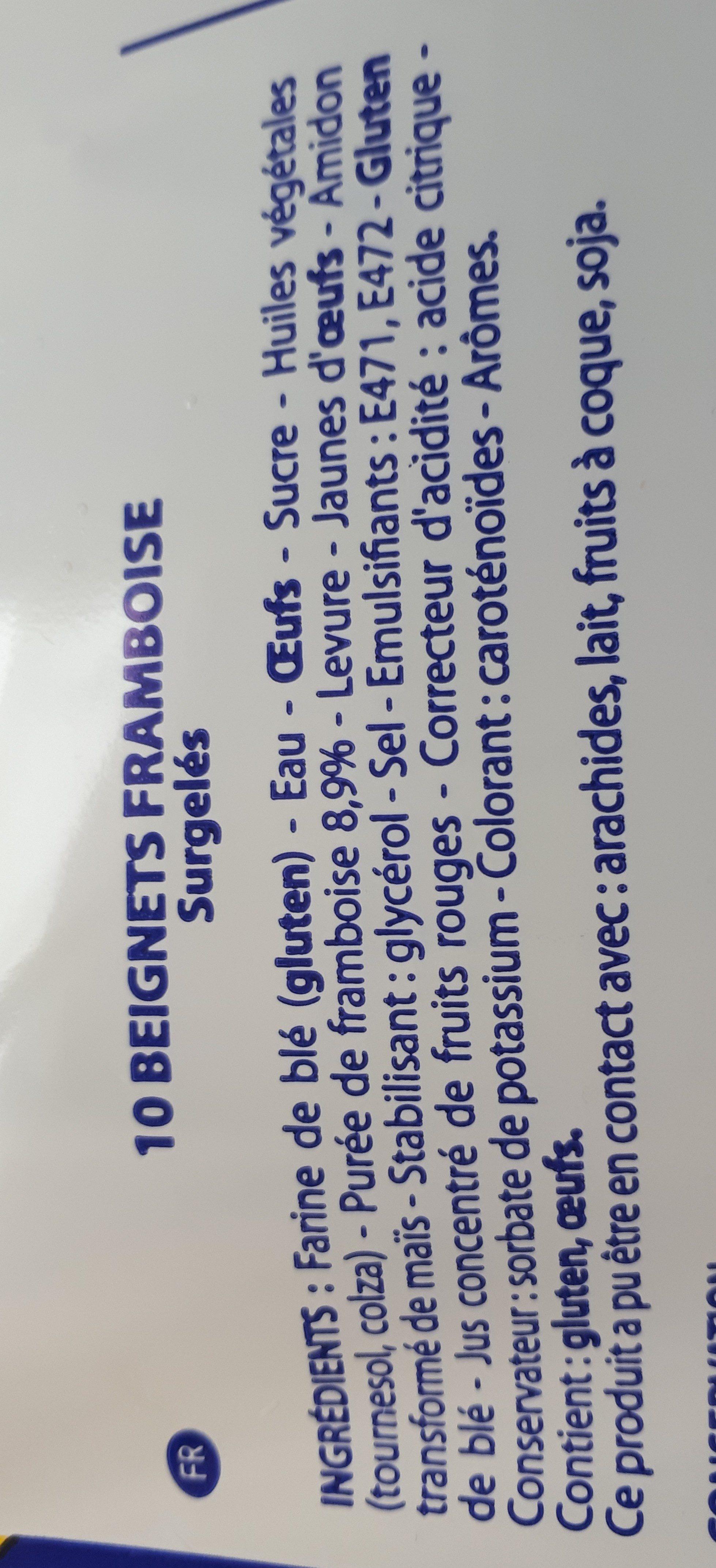 Beignets - Ingredients - fr