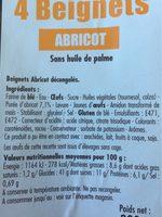 Beignets à l'abricot - Ingredients - fr