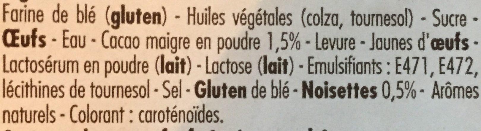Beignets parfum Chocolat noisette - Ingrédients - fr