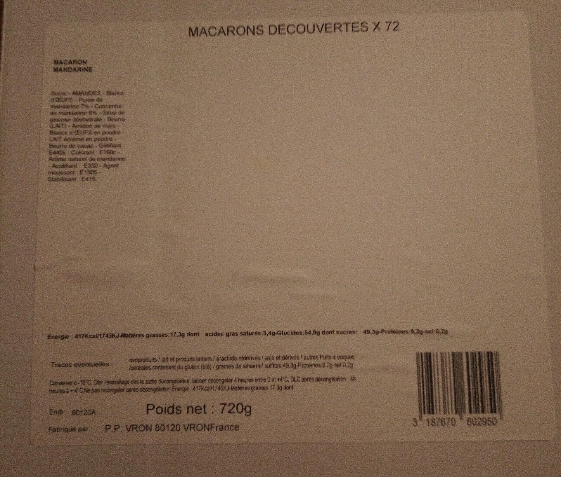 macarons découverte X 72 - Product - fr