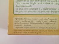 Boudoirs bio - Ingredients