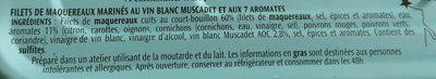 Filets de Maquereaux Muscadet AOC - Ingredients - fr