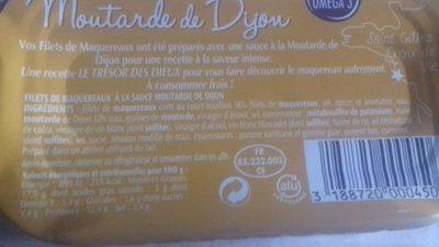 Filet de maquereaux - Moutarde de dijon - Ingredienti - fr