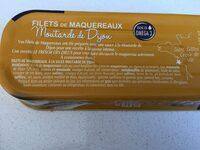 Filets de maquereaux à la moutarde de Dijon - Ingrédients - fr