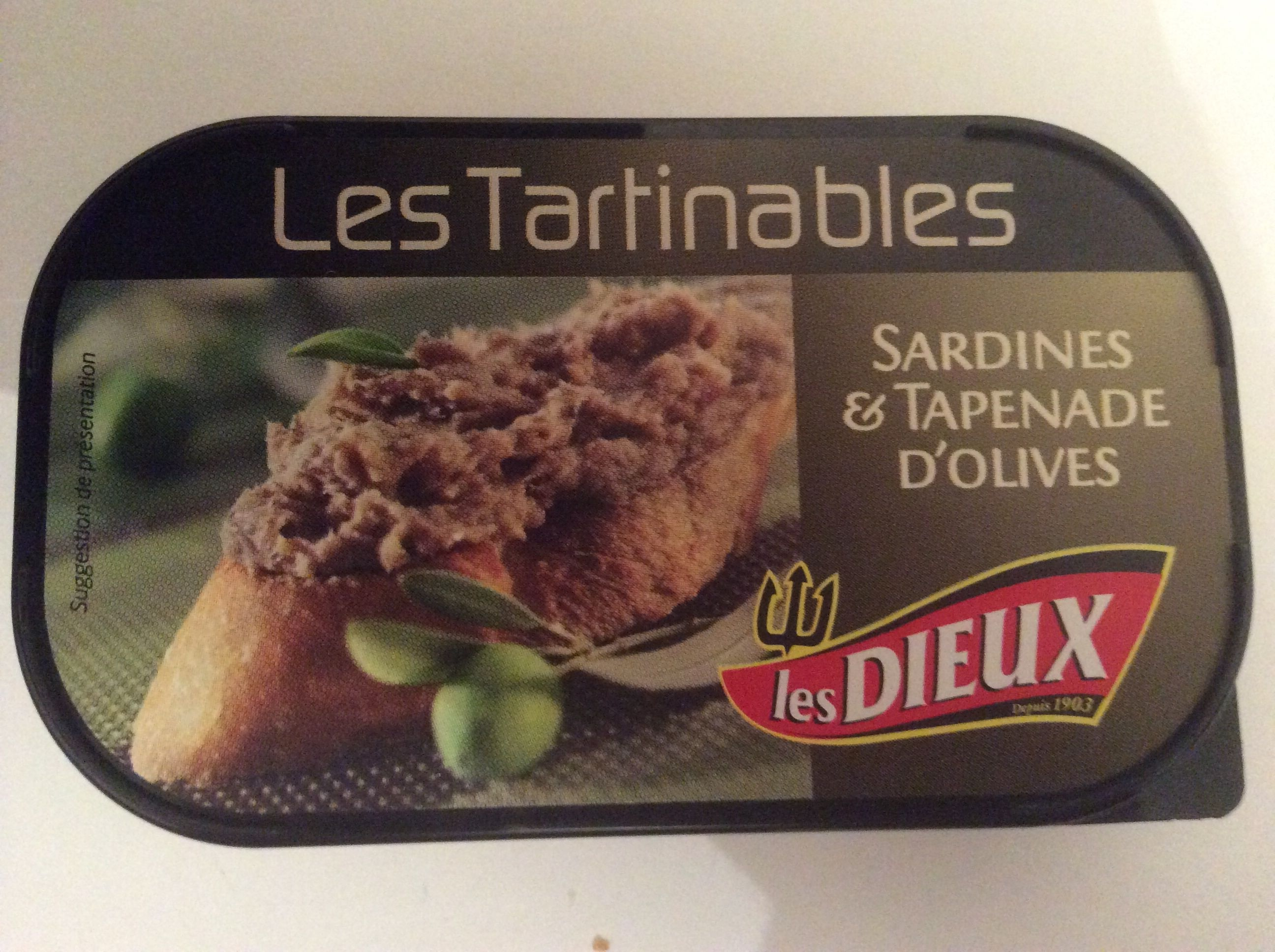 Les Tartinables (Sardines & Tapenade d'Olives) - Produit - fr