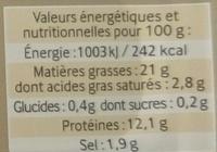 Les Tartinables (Sardines & Tapenade d'Olives) - Informations nutritionnelles - fr