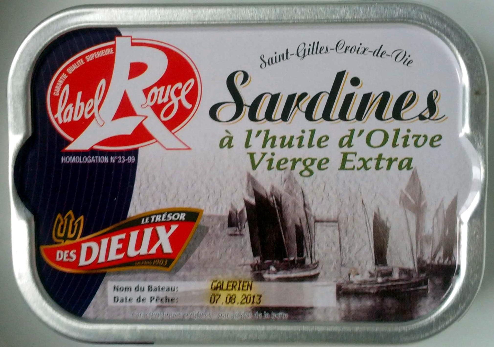 Sardines à l'huile d'Olive Vierge Extra (Label Rouge) - Product