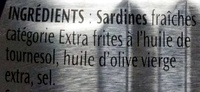 1/6 Sardines Label Rouge huile d'olive - Ingredienti - fr