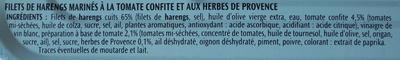 Filets de Harengs(Tomate confite herbe de Provence)- - Ingrédients - fr