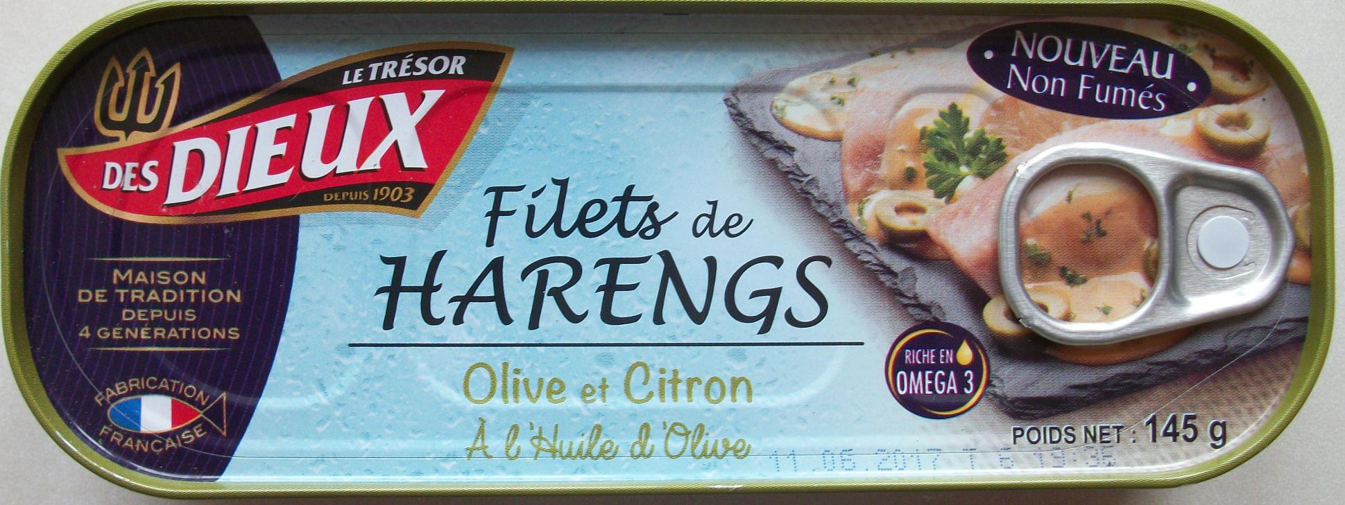 Filets de Harengs (Olive et Citron, À l'Huile d'Olive) - Produit