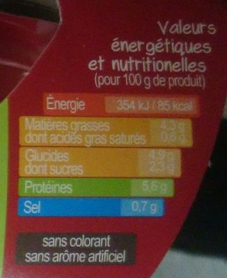 Veau de l'Aveyron et du Segala au Marengo - Informations nutritionnelles - fr