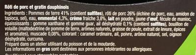 Rôti de Porc & Gratin Dauphinois - Ingrédients - fr