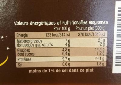 Steak haché Charolais & Purée à l'Emmental - Nutrition facts - fr