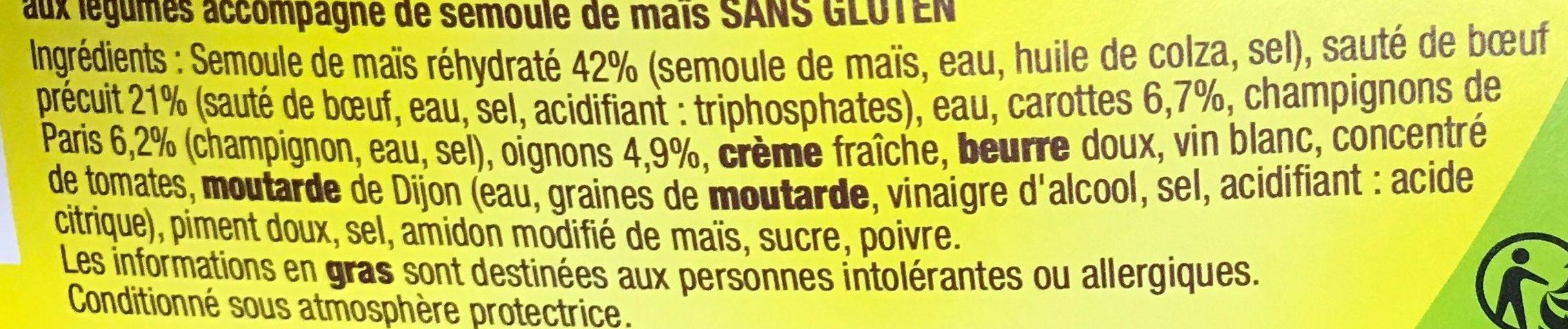 Sauté de Boeuf au Paprika & Semoule - Ingrédients - fr