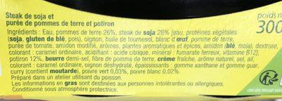 Steak de Soja - Ingredients - fr