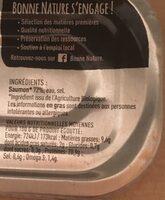 Filet de saumon bio au naturel - Informations nutritionnelles - fr