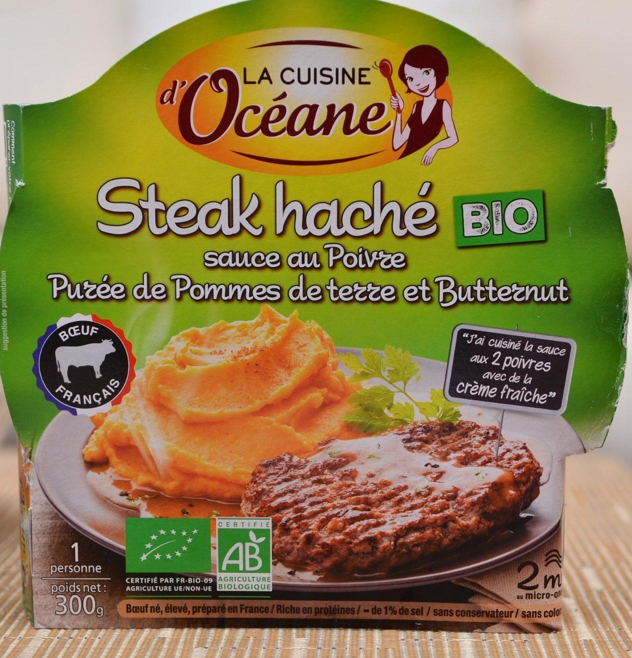 Steak Haché, Sauce au Poivre et Purée de Pommes de Terre et Butternut Bio - Produit - fr