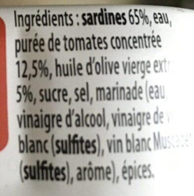 Sardines au piment d'espelette bio - Ingrédients