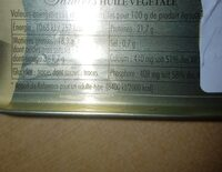 Sardines Huile Végétale - Nutrition facts - fr