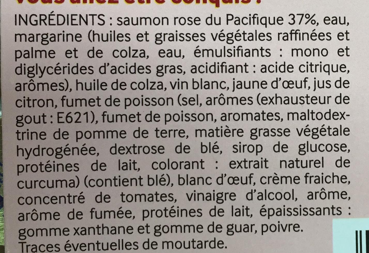 Les Tartinables (Mousse de Saumon) - Ingrédients - fr