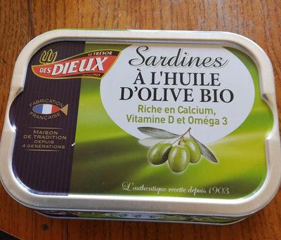 Sardines huile d'olive bio - Produit