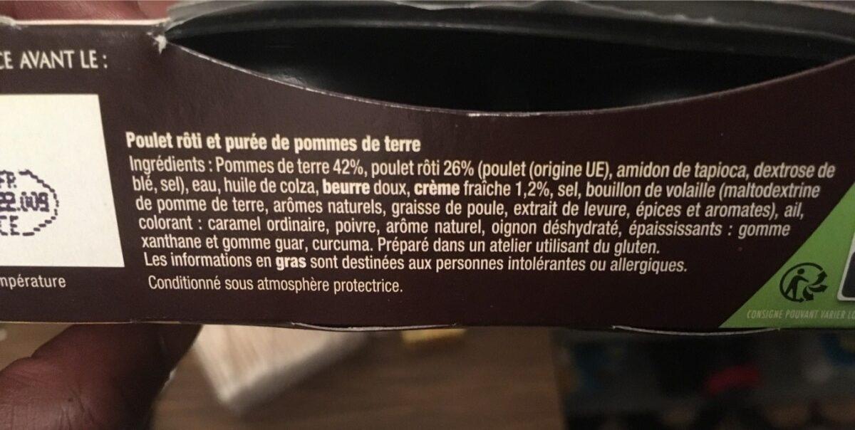 Poulet rôti & purée à l'ancienne - Ingredients - fr