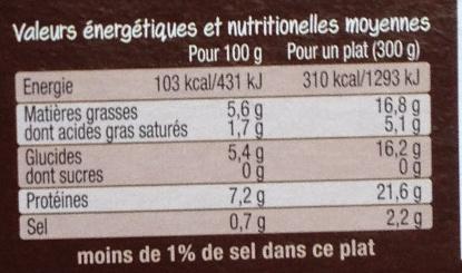 Poulet rôti & purée à l'ancienne - Nutrition facts - fr