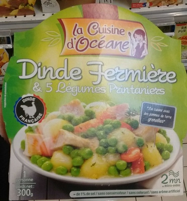 Dinde fermière & 5 légumes printaniers - Produit