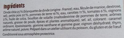 Dinde fermière & 5 légumes printaniers - Ingrédients - fr