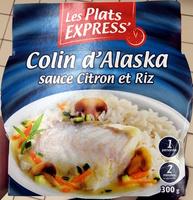 Colin d'Alaska sauce Citron et Riz - Produit - fr