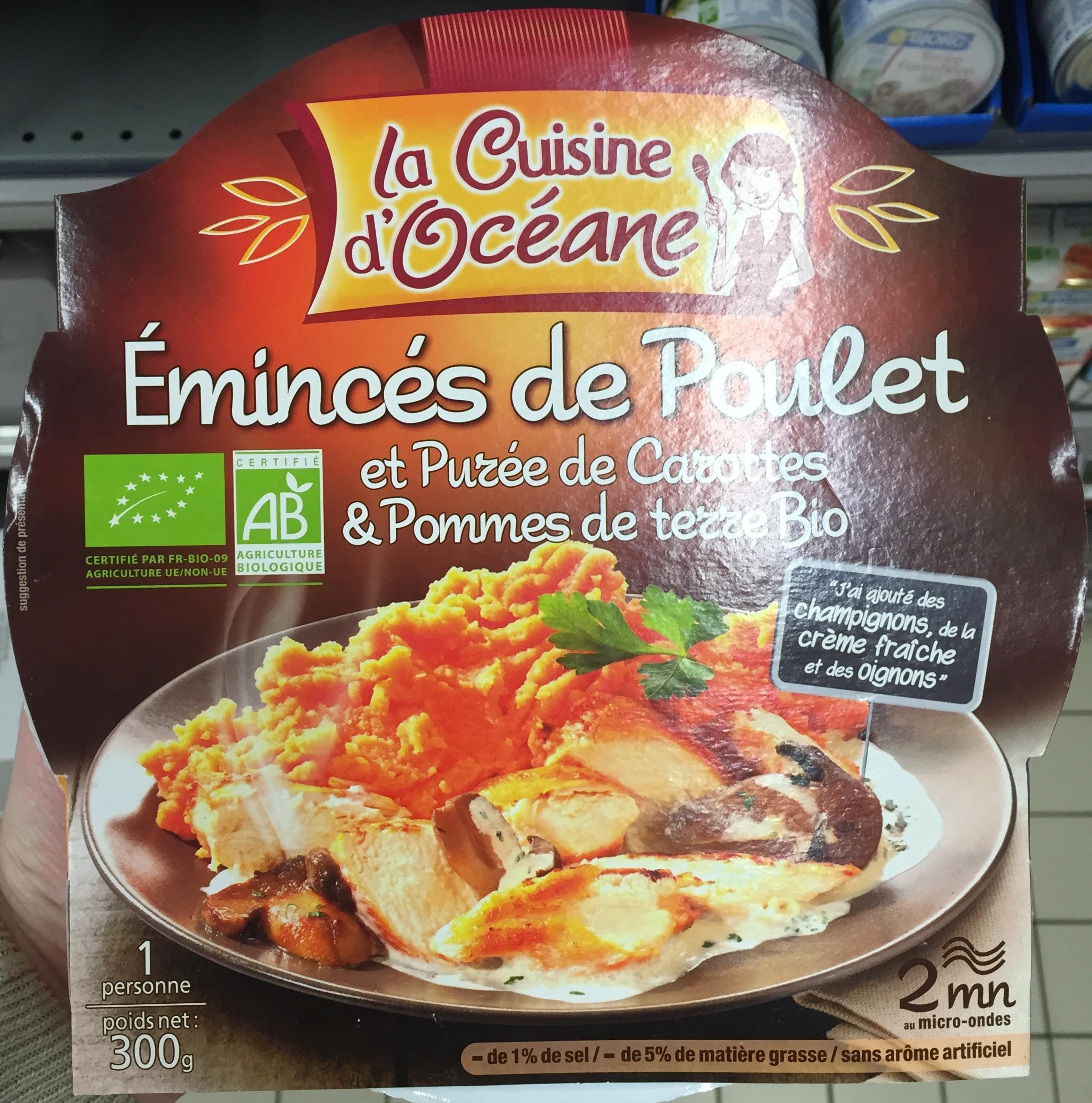 Émincés de Poulet et Purée de Carottes & Pommes de terre Bio - Produit
