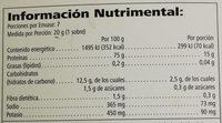 Polvo para preparar bebidas - Nutrition facts - es