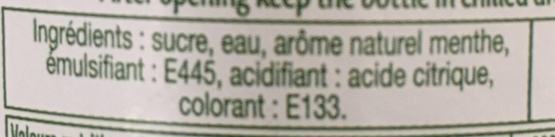 Menthe Glaciale - Ingrediënten - fr