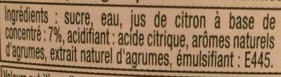 Citror - Ingrediënten - fr