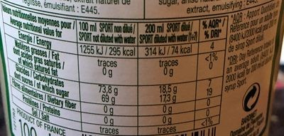 Anisade - Nutrition facts - fr