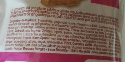 Gingembre - Ingredienti - fr