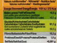 Dattes Deglet Nour - Valori nutrizionali - fr
