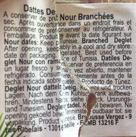 Dattes branchées - Ingredienti - fr