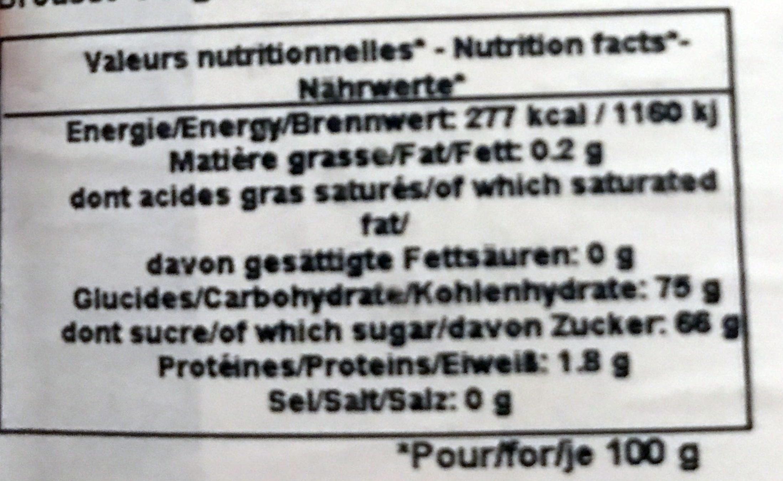 Dattes Medjool - Informations nutritionnelles - fr