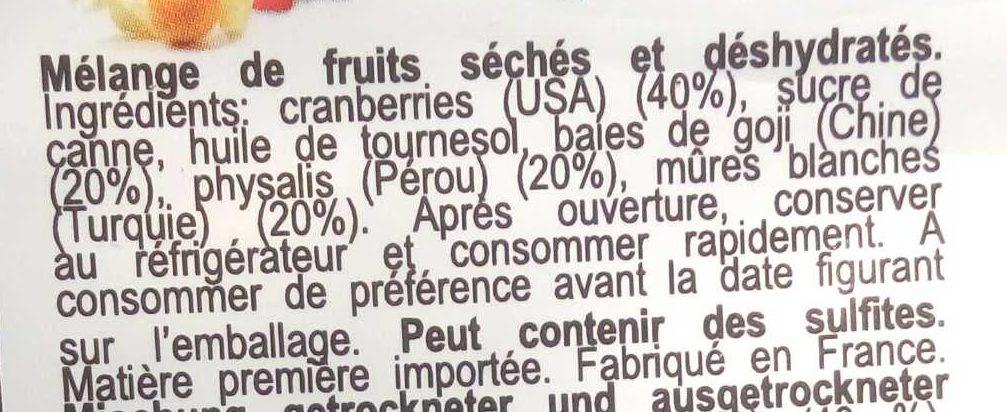 Mélange Super Fruits - Ingrédients
