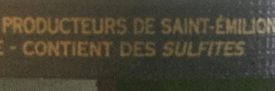 Saint-Emilion Grand Cru 2014 - Ingrediënten - fr