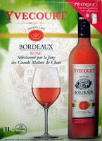 Bordeaux rosé Appellation Bordeaux Contrôlée Yvecourt - Product