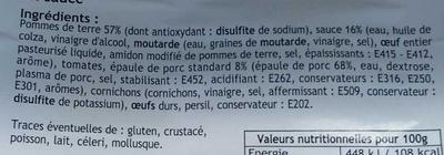 Piémontaise - Ingrédients - fr