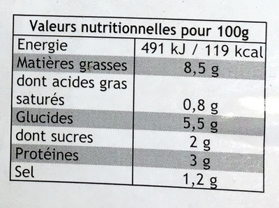 Macédoine de Légumes - mayonnaise - Nutrition facts - fr