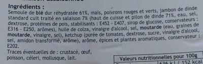 Taboulé volaille - Ingrédients - fr